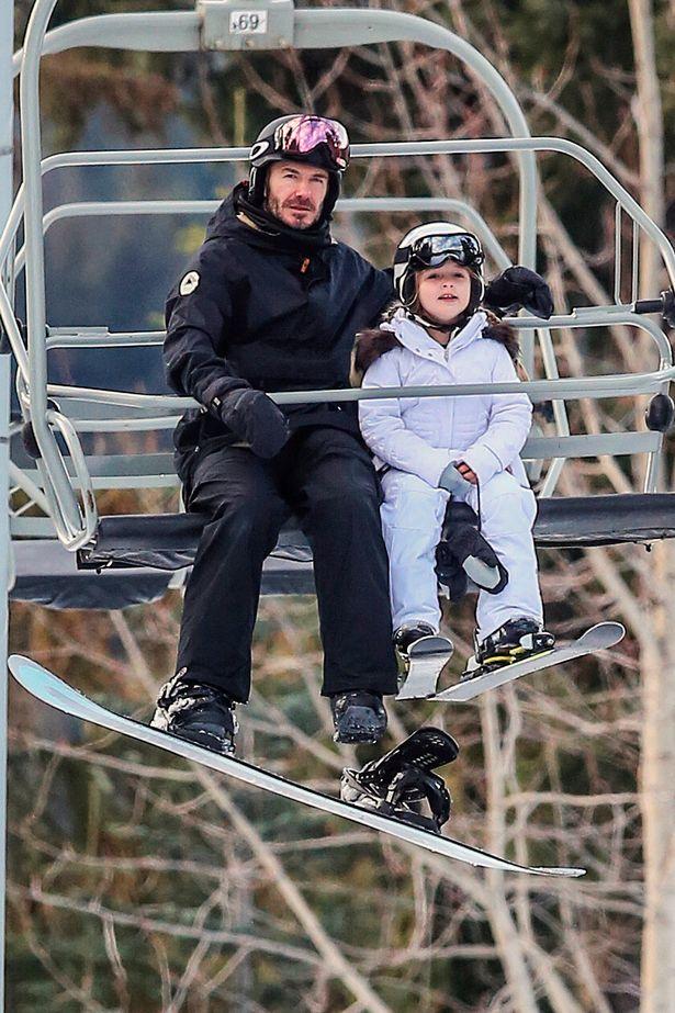 realmomster beckhams ski holiday