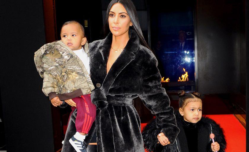 Kim Kardashian West Makes The Statement Coat a Family Affair