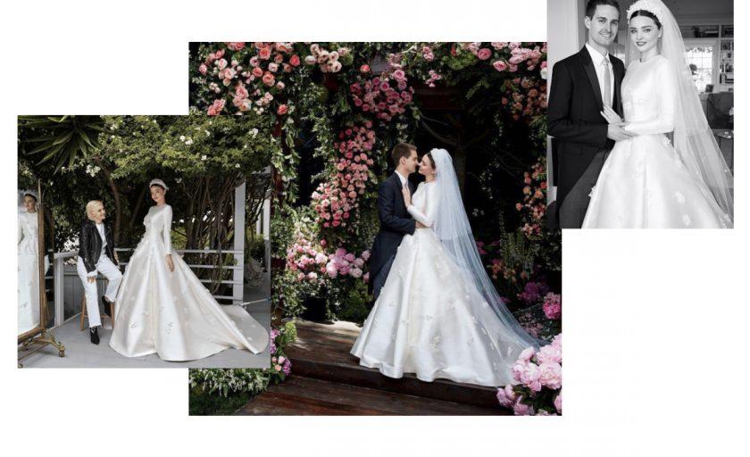 Supermodel and Supemom Miranda Kerr Married in Custom DIOR