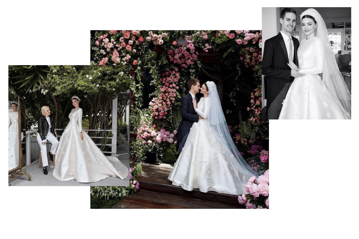 Supermodel and Supemom Miranda Kerr Married in Custom DIOR ...